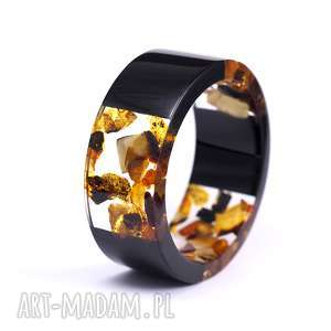 bransoletki bransoleta z żywicy i bursztynu amber passion, żywica, bursztyn, natura