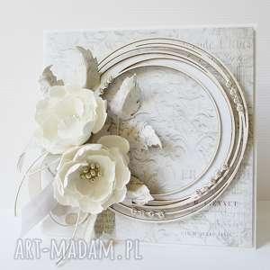 Z diamencikami - w pudełku scrapbooking kartki marbella ślub