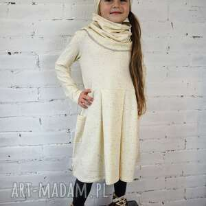 Prezent Sukienka WANILIA, sukienka, dziewczynka, wanilia, zima, prezent, przedszkole