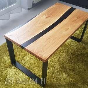 stoły stolik kawowy, ława dębowa, żywica - rzeka, stolikkawowy