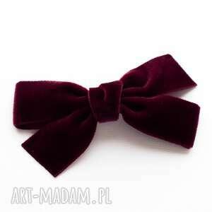 ręcznie wykonane pomysł na prezent spinka do włosów velvet bow