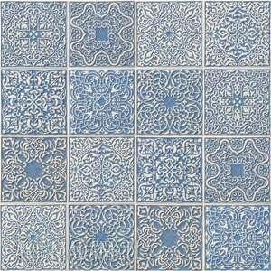 kafle arabeski, jasnoniebieski granit, 16 sztuk, kafle, ręcznie robione