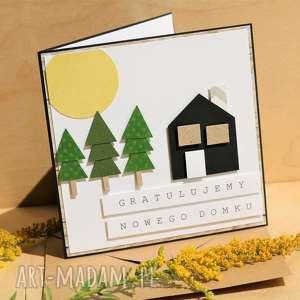 scrapbooking kartki kartka na parapetówkę, parapetówka, nowy, dom, gratulacje