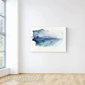 Obraz ręcznie malowany 100 x 70 cm, nowoczesna abstrakcja