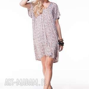 Sukienka Nare, paisley, moda, dzianinowa, letnia, onesize