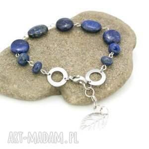 bransoletka lapis lazuli w stali szlachetnej, bransoletka, lapis, lazuli, stal