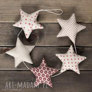 pomysł na upominek święta GWIAZDKOWA BEŻOWA GIRLANDA, 5 gwiazd, bożenarodzenie
