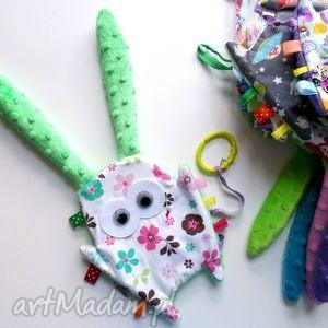 Uszak metkowiec - kwiaty zabawki maly artysta gryzak, metka,