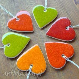 Kolorowe serduszka ceramika pracownia ako serce, serduszko
