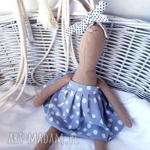 handmade maskotki pani krolik przytulanka z imieniem