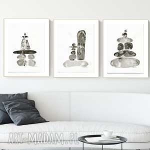 ART Krystyna Siwek! zestaw 3 grafik 30X40 cm wykonanych ręcznie