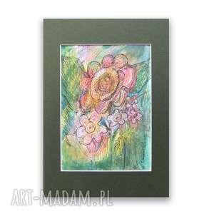 kolorowy rysunek, nowoczesny obrazek ręcznie malowany, szkic ogrodowy n11