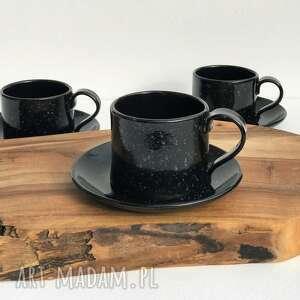 ręcznie lepiona filiżanka ze spodeczkiem, ceramika, filiżanka, kubeczek