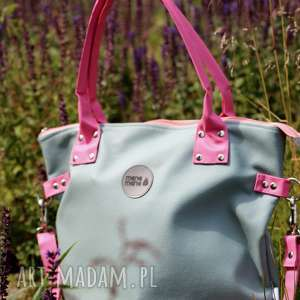hand-made na ramię torba damska na ramię worek pistacjowa