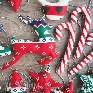 dekoracje świąteczne zestaw 19 sztuk kuferek malucha - mikołaj