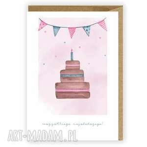 kartka urodzinowa, okolicznościowa, na urodziny, wszystkiego najsłodszego