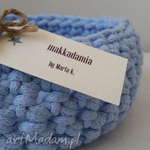 Koszyk ze sznura bawełnianego. , kosz, sznurek, dekoracje, wnetrze, dom