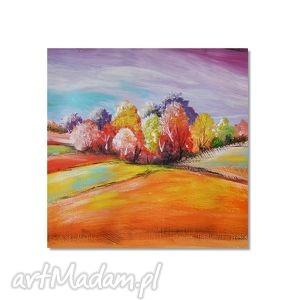 pejzaż bajkowy, nowoczesny obraz ręcznie malowany, obraz, autorski, malowany