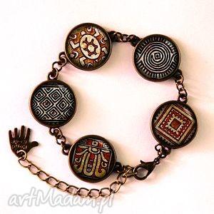 antyczne kafle - bransoletka, hieroglify, antyczna prezent