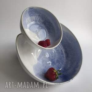 ręczne wykonanie ceramika podwójna miska ceramiczna