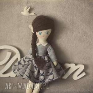 lalki bajka w sweterku - tonia, lalka, jaskółka, ptaszki, sweterek, sukienka, retro