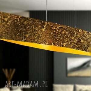soleil - artystyczna lampa sufitowa do loftu, artystyna lampa, zlota dekoracja