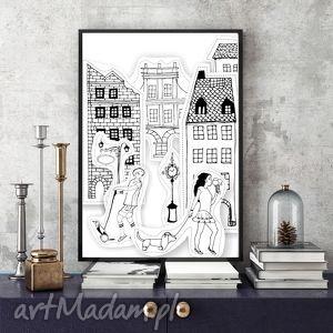 zatrzymać czas ilustracja, a4, miasto, dzieciństwo, miłość, wspomnienia