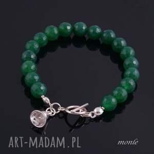 Zielona bransoletka z agatów - Handmade