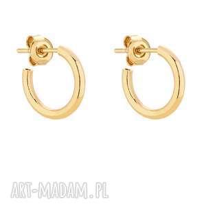 złote półokrągłe kolczyki m - kółeczka