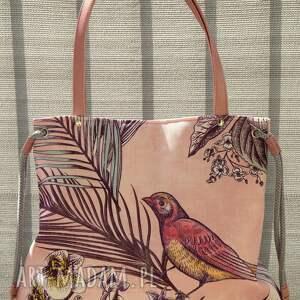 na ramię worek - koliber, torba, wiosna lato, prezent, shopperka