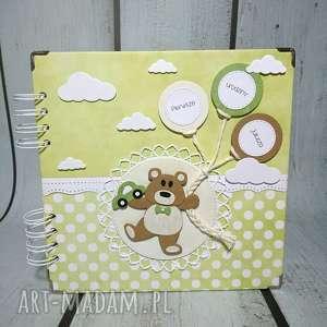 handmade scrapbooking albumy album - misiu/misiulek misiek/misiaczek