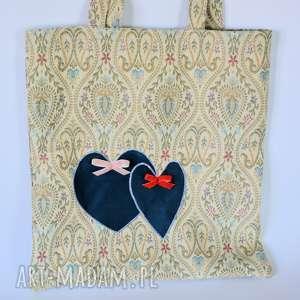 Torba na zakupy - Dwa serca bardzo pakowna, torba, duża, zakupy, solidna