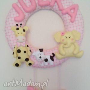 Personalizowana girlanda z imieniem dziecka, girlanda, dekoracja, dziecko, filc
