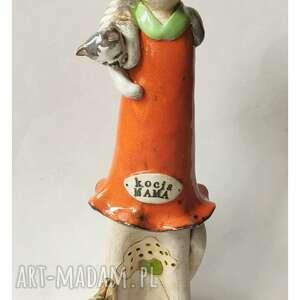 kocia mama, ceramika, kot, kotki prezent na święta