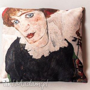 Poszewka na mała poduszkę (jasiek) - Schiele, poduszka, jaksiek, schiele, sztuka