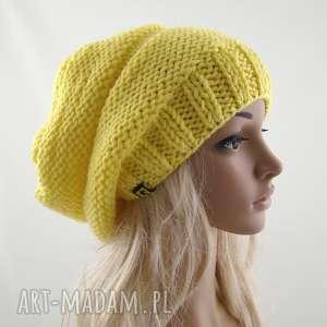 czapki żółta czapa, czapka, zimowa, uniwersalna, miękka, prezent