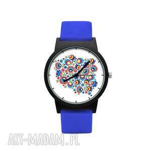 zegarek z silikonowym paskiem polska, ludowy, folklor, kwiatowy, prezent