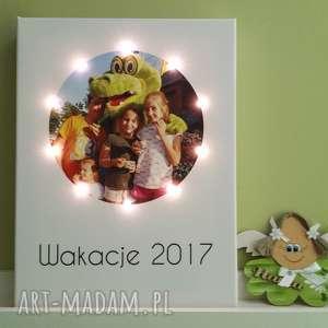 Prezent Obraz LED z Twoim zdjęciem, świecący obraz, zdjęcie na płótnie, prezent