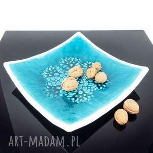 ceramika patera kwadratowa koronkowa, patera, ceramika