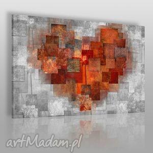 obrazy obraz na płótnie - serce abstrakcja 120x80 cm 43101 , serce, miłość