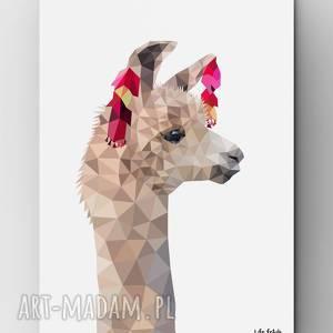 ręcznie robione plakaty lama b2