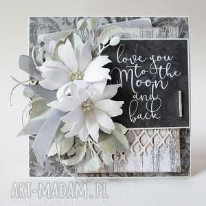Z kwiatami - w pudełku scrapbooking kartki marbella życzenia