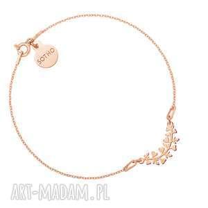 Bransoletka z gałązką różowego złota, bransoletka, zawieszka, różowezłoto, gałąz