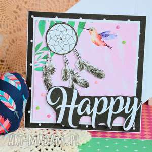 ręcznie zrobione kartki kartka - happy (1)