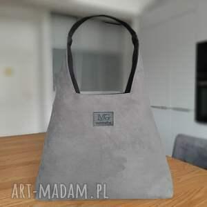 boba zip xl, kolor szary popiel grafitowy, designerska wodoodporna duża torba
