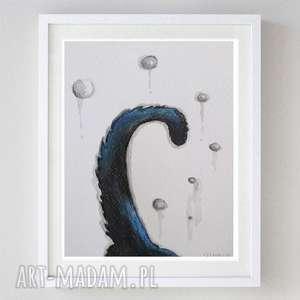 ogonek-akwarela,abstrakcja formatu 12,5/18 cm, ogonek, akwarela