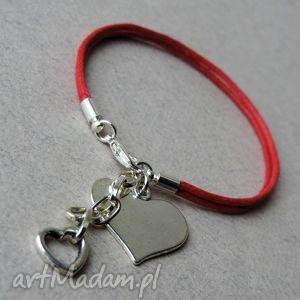 l.o.v.e., serce, sznurek, sznurkowa, delikatna, bransoletka