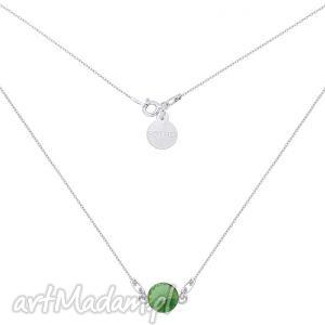 handmade naszyjniki srebrny naszyjnik z zielonym kryształem swarovski® crystal