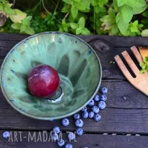 misa do serwowania - miska szmaragdowa efektowa średnia zielona 1000 ml