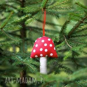 dekoracje ozdoba choinkowa muchomor duże kropki, 1 szt, muchomor, grzybek, zawieszka